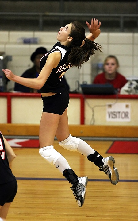 Female college volleyball players