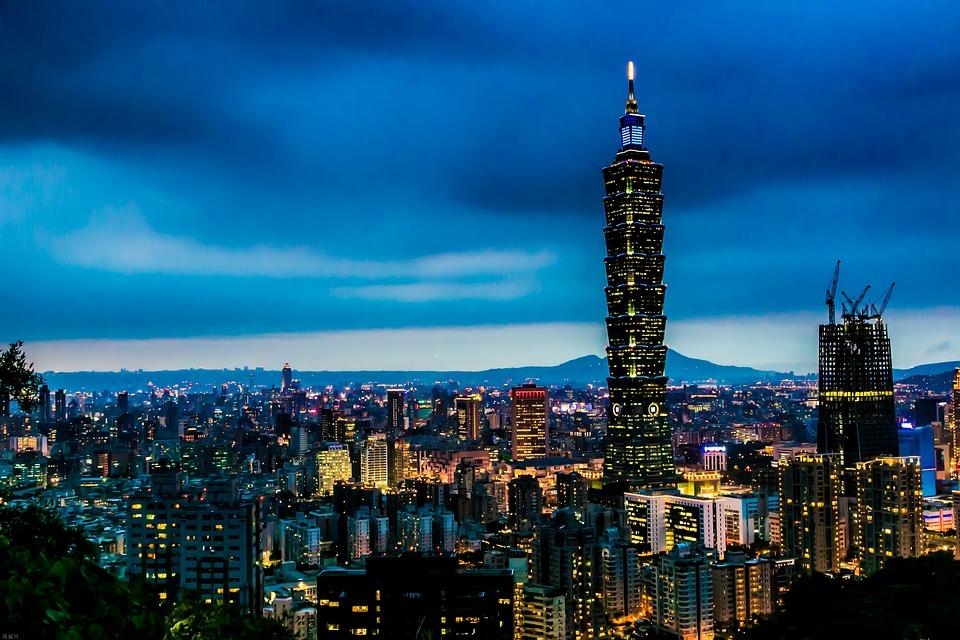 一零一大楼, 夜色, 都市, 台北, 亚洲, 市, 晚, 灯火, 城市景观, 台北金融中心