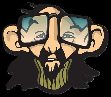 L'Homme, Hippie, Geek, Lunettes
