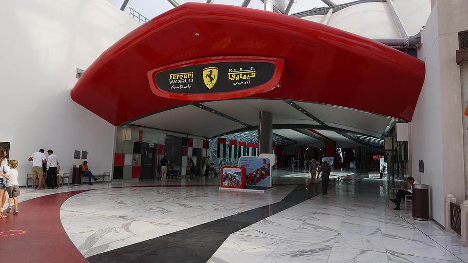 Ferrari World Abu Dhabi Uae Entrance  C B Public Domain