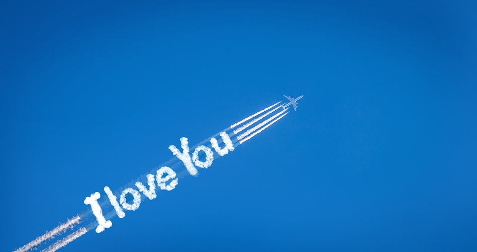Contrail, Route, Love, Affection, Lettering, I Love You