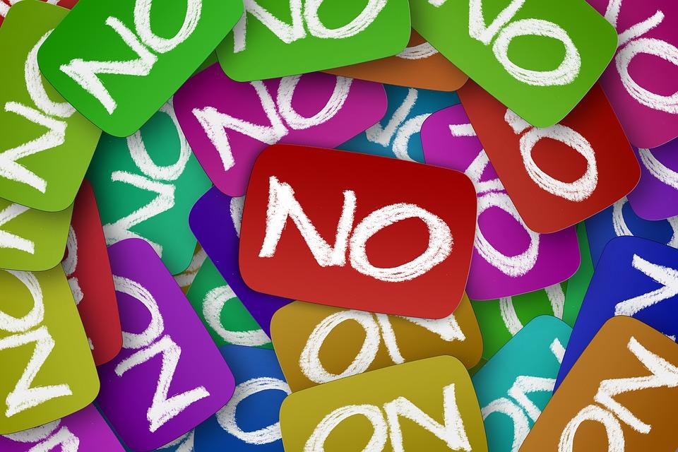 No, Negativo, Molti, Tondo, Segni, Cancellazione