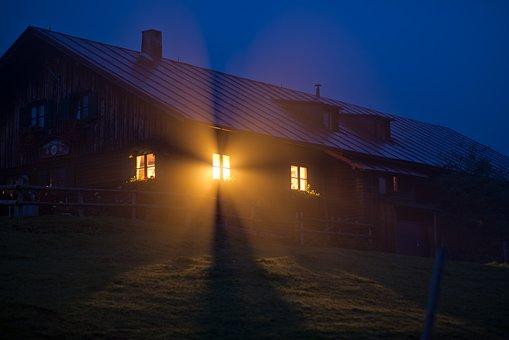 Fenster, Nebel, Haus, Kabine