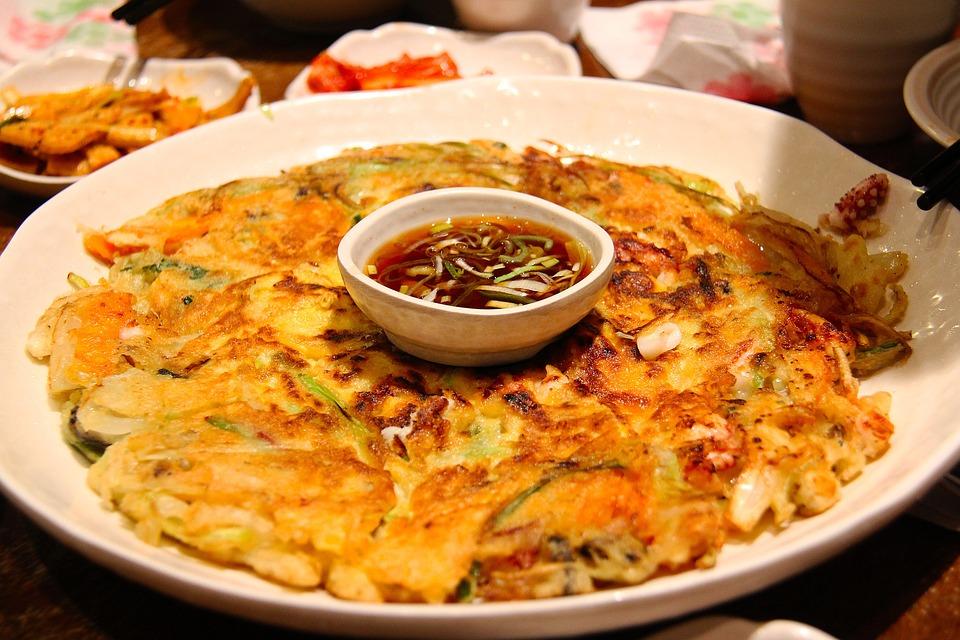 Lecker, Koreanisch, Lebensmittel, Kimchi, Pfannkuchen