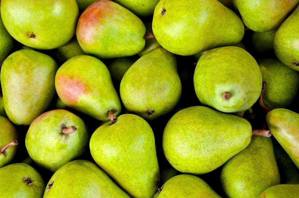 Fruits, Pears, Green, Fresh, Ripe, Harvest, Produce