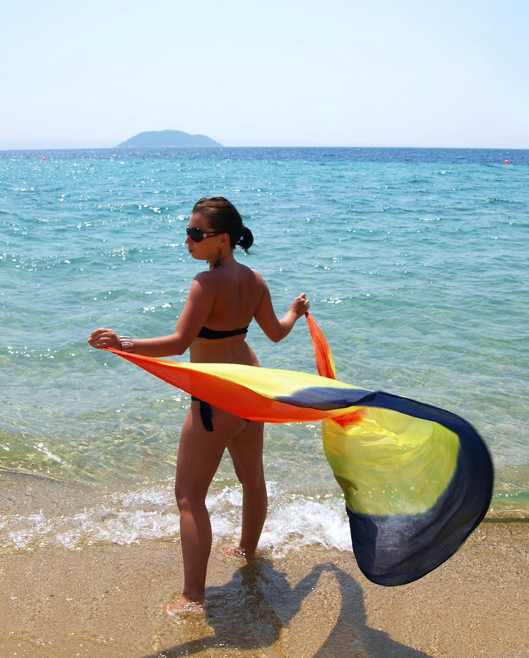 Девочки на пляже летом фото