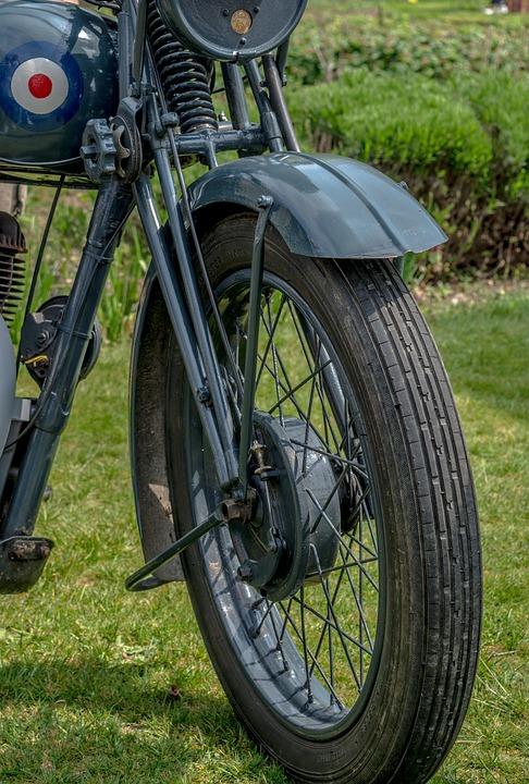 摩托车, 自行车, 车轮, 老, 酿酒, 战时, 军队, 轮胎图片