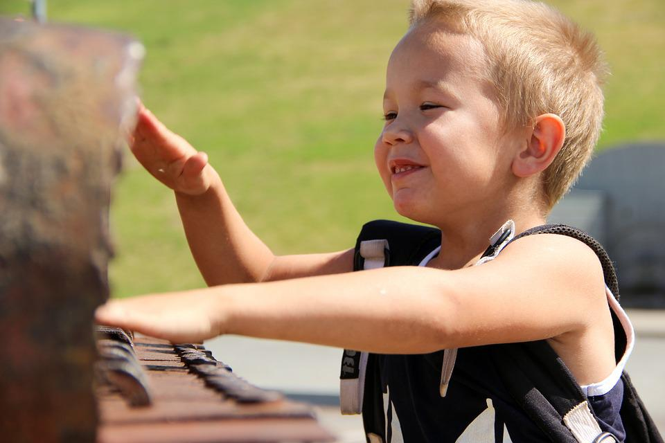 Happy Boy, Game, Piano, Nature, Hands, Fun, Outdoors