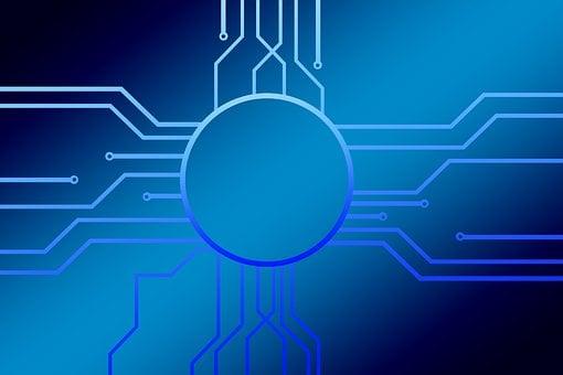 バイナリ, 1, サイボーグ, サイバネティックス, 思う, 回路