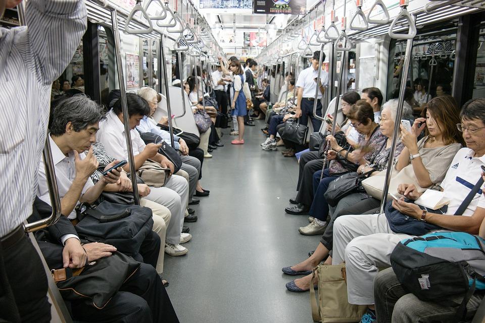 Токио, Азии, Япония, Человеческого, Метро, Город