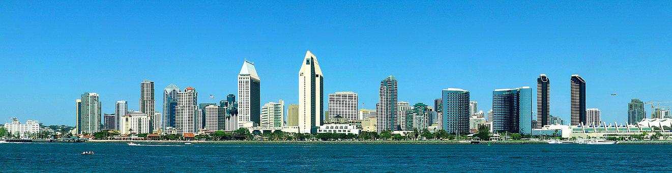 Panorama, San Diego, California, Downtown Waterfront