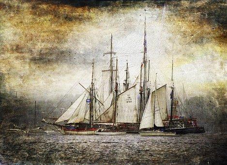 Art Parchment Tall Ship Kiel Week Win