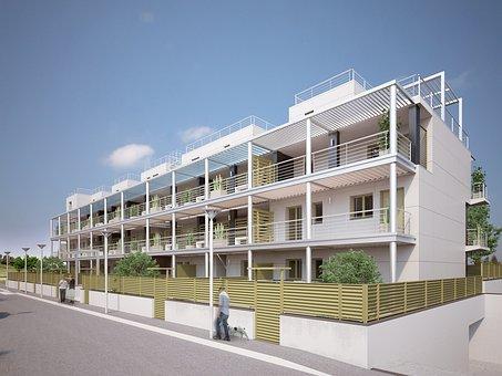 黒い森の村, ローマ, マンション, 省エネルギー, 新しい建物, ディスプレイ