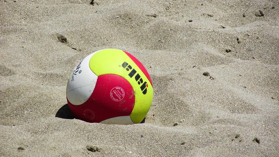 Beach Volejbal, Volejbal, Koule, Písek, Sport, Palba