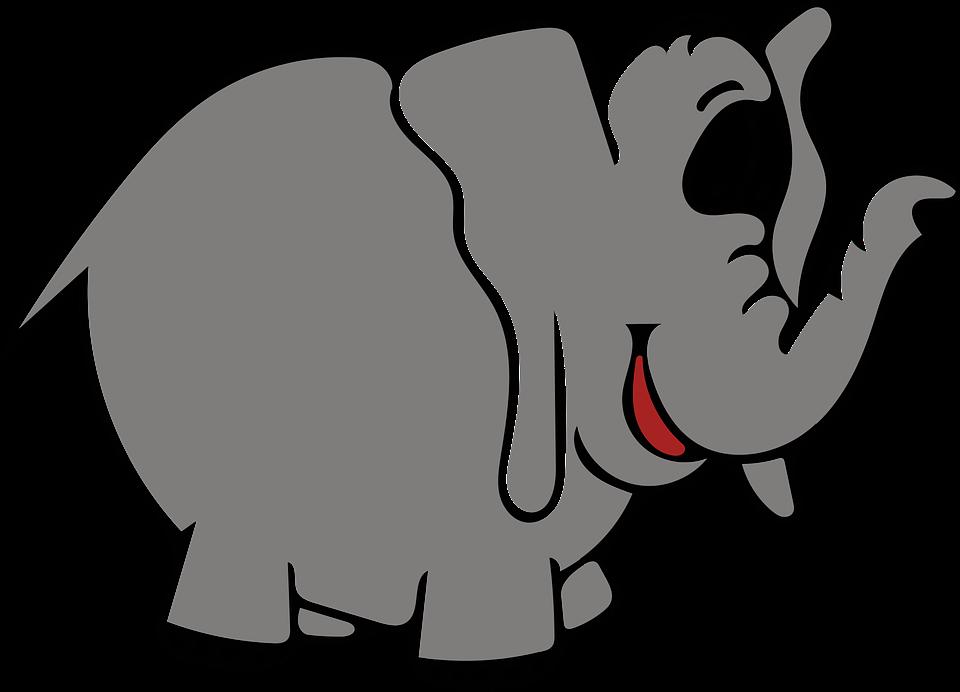 Elephant Gray · Free vector graphic on Pixabay