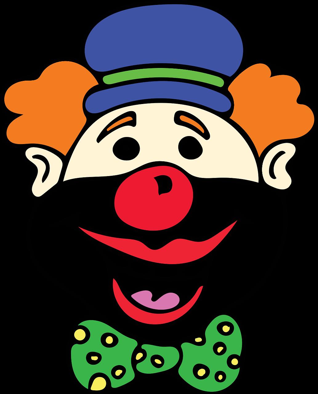 Смешной клоун нарисовать, девушками