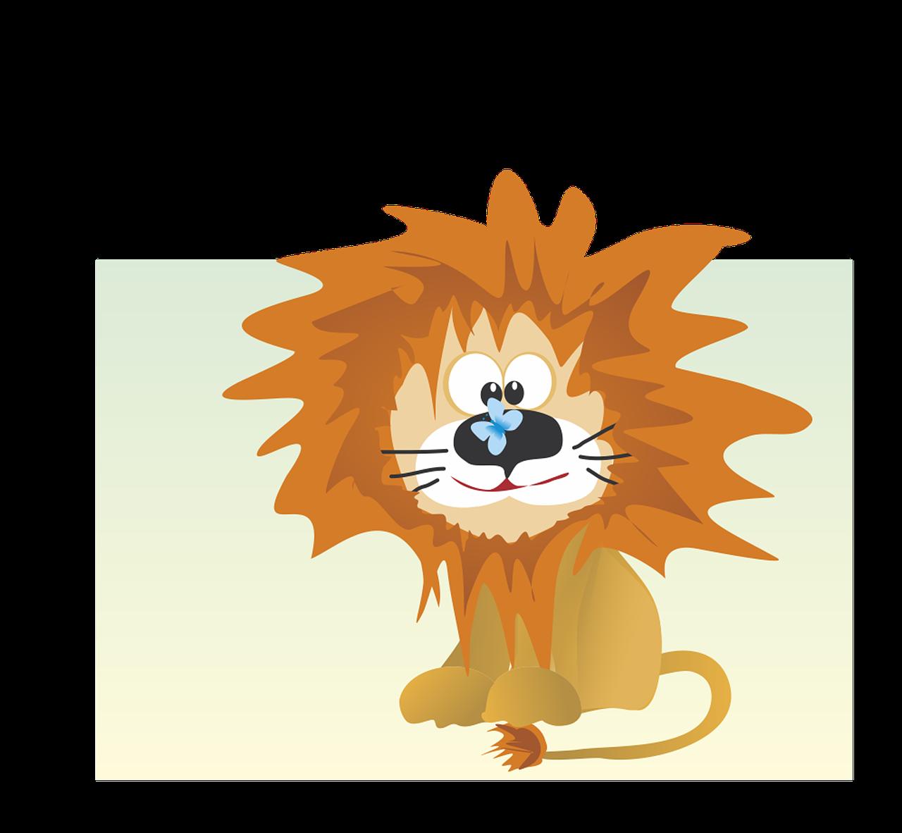 Днем рождения, смешной львенок рисунок