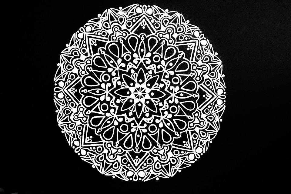 illustration gratuite mandala noir et blanc zendala. Black Bedroom Furniture Sets. Home Design Ideas