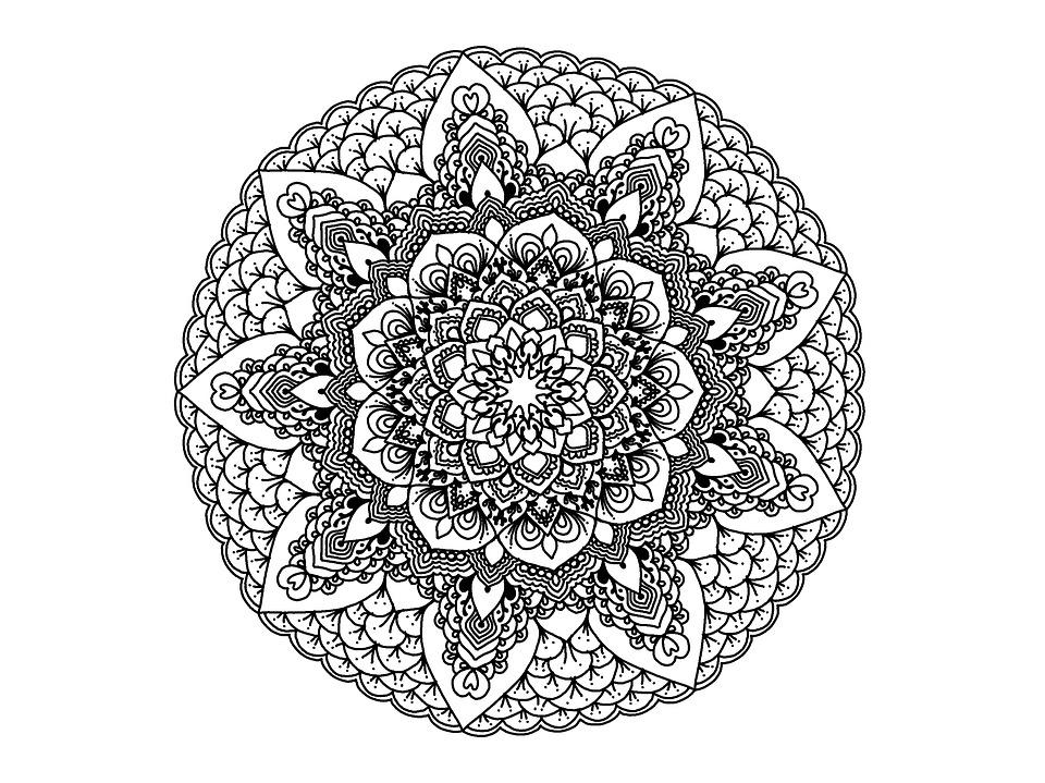 kostenlose illustration mandala schwarz und wei zendala kostenloses bild auf pixabay 1541980. Black Bedroom Furniture Sets. Home Design Ideas