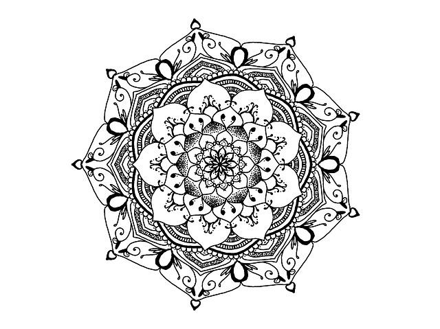 Mandala Black And White Zendala Free image on Pixabay