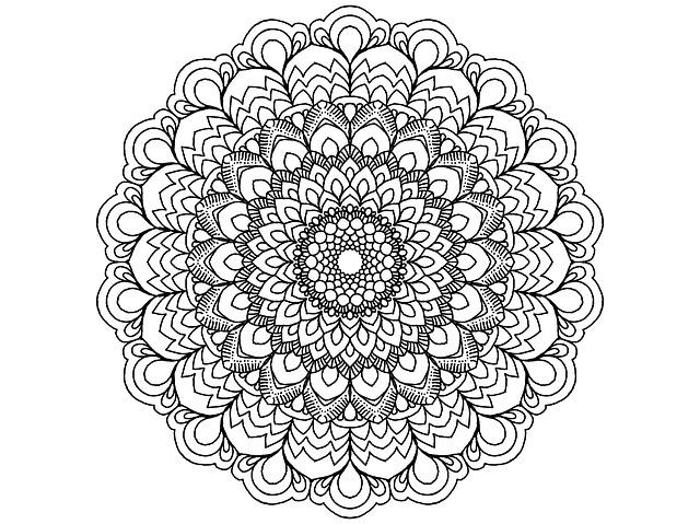 Mandala Black And White Zendala