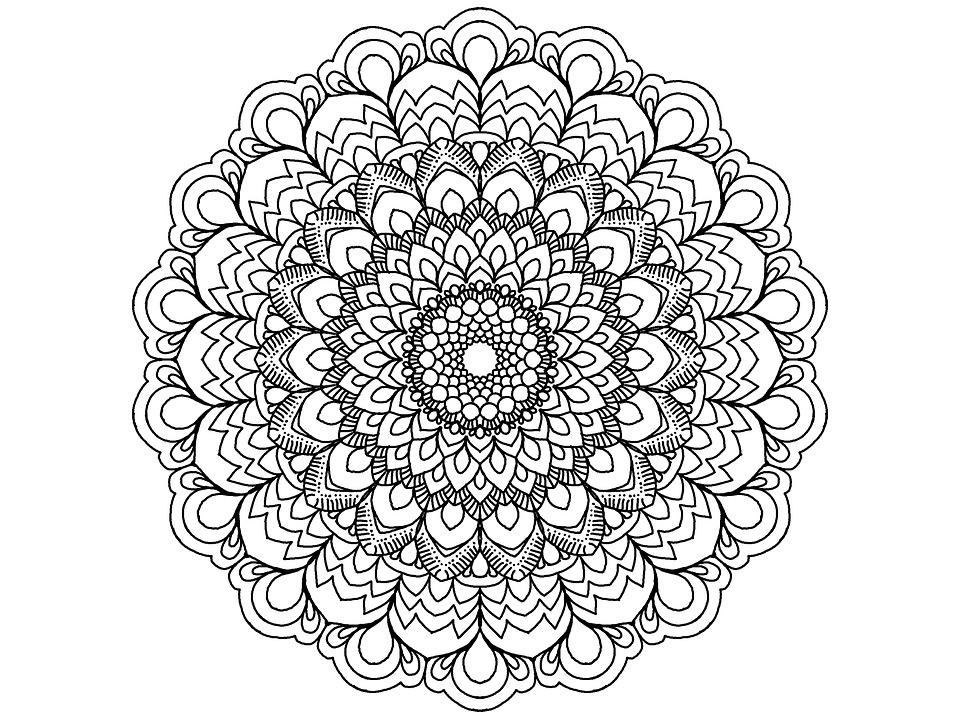 mandala noir et blanc zendala image gratuite sur pixabay. Black Bedroom Furniture Sets. Home Design Ideas