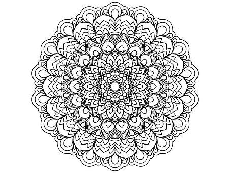 64 Gambar Ornamen Henna Paling Bagus