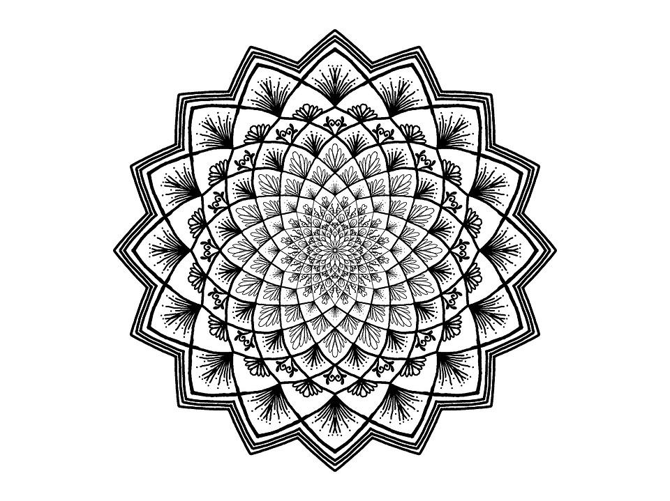 kostenlose illustration mandala schwarz und wei zendala kostenloses bild auf pixabay 1541986. Black Bedroom Furniture Sets. Home Design Ideas