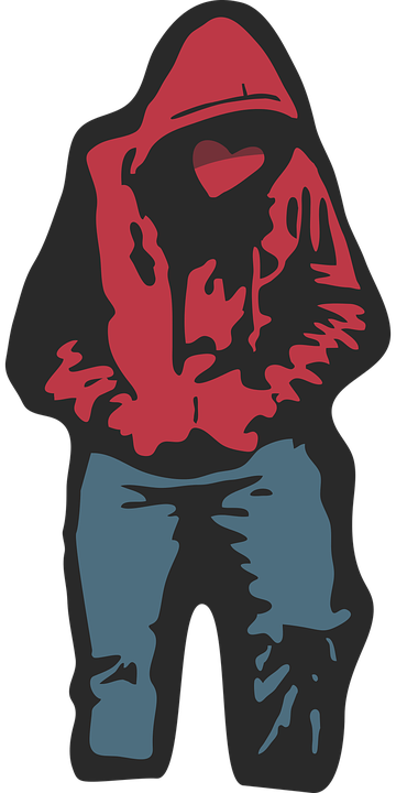 free vector graphic  hoodie  red  jeans  hip hop  rap - free image on pixabay