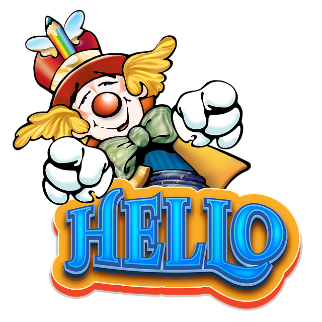cute clown clipart png