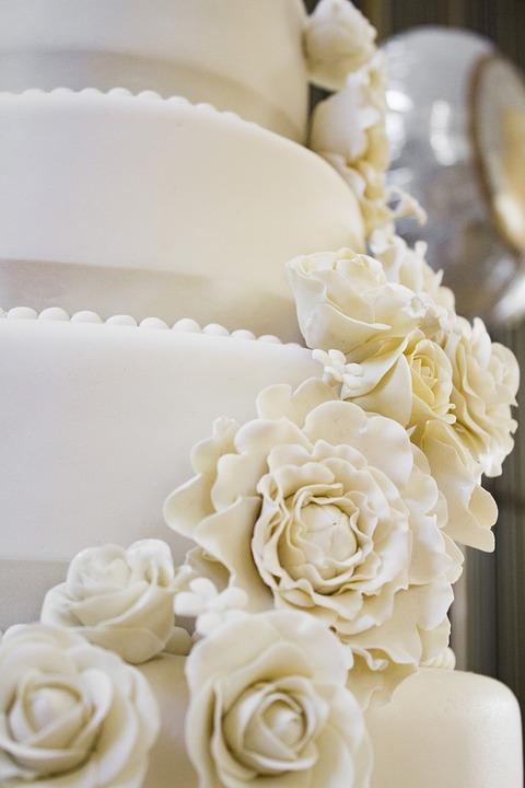Hochzeit Kuchen Rosen Kostenloses Foto Auf Pixabay