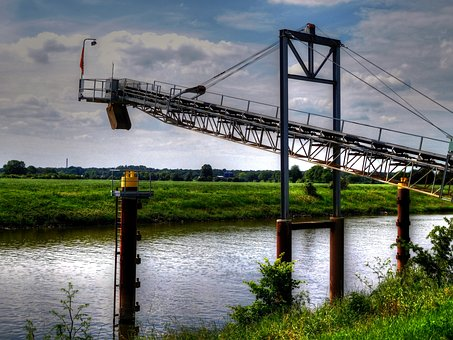 Hdr, Loading, Water, Weser, Nature