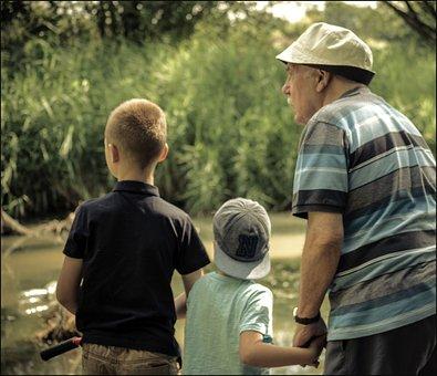 偉大な壮大なお父さん, 偉大な孫, 探している, 公園, 興味があります