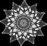 mandala, flower, lotus