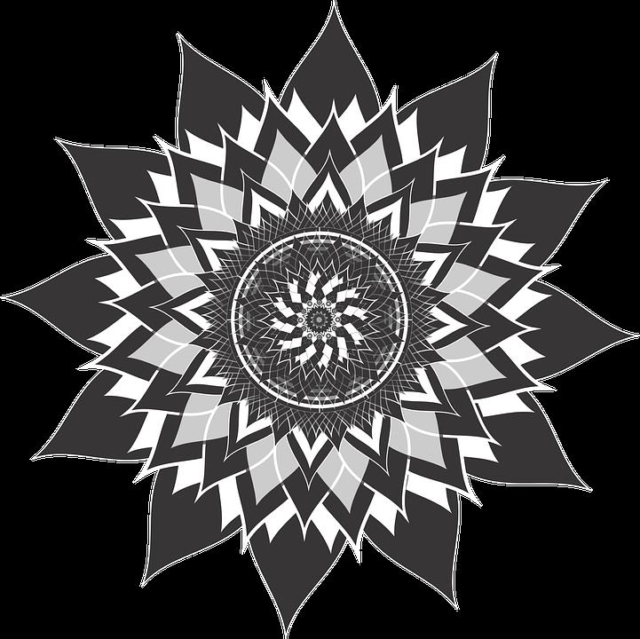 Mandala Bunga Teratai Gambar Vektor Gratis Di Pixabay