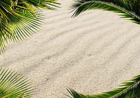 Background Image Sand Travel Greeting