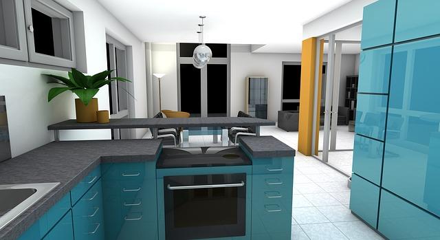 Free Illustration Kitchen Dining Room Rendering Free Image On Pixabay 1543489