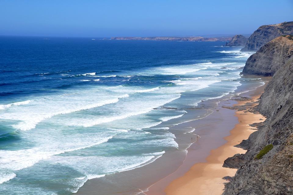 Plage, Côte Ouest Algarve, Portugal, Atlantique
