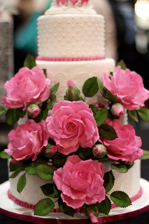 Hochzeitstorte Dekoration Blumen Kostenloses Foto Auf Pixabay