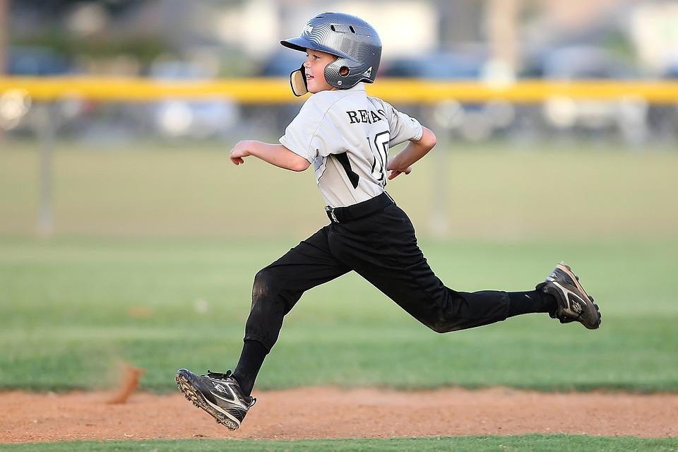 Baseball, Player, Running, Sport, Uniform, Field, Game