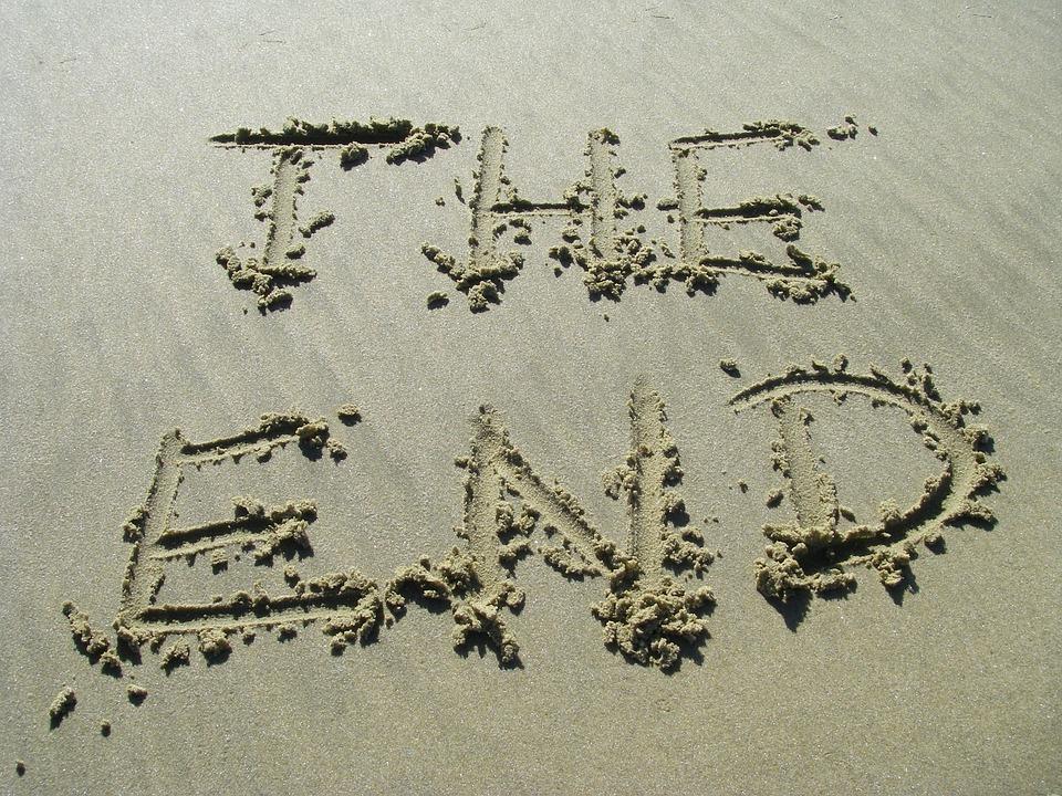 Краят, Пясък, Край, Плаж, Текст