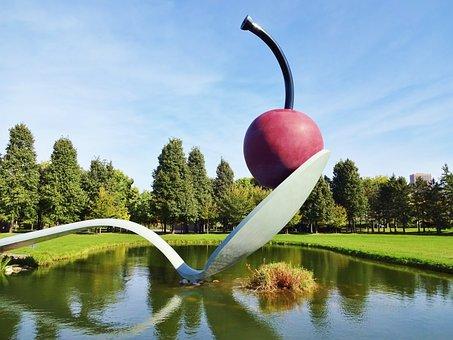 Cherry On A Spoon Cherry Sculpture Minneap