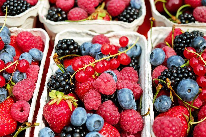 Bayas, Frutas, Mixto, Puesto De Frutas