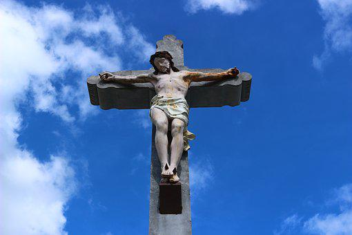 Cross, Religious, Christ, Sky, France