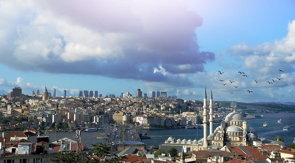 Istanbul, Urquie À, Galata, Turquie, Paysage, Nuage