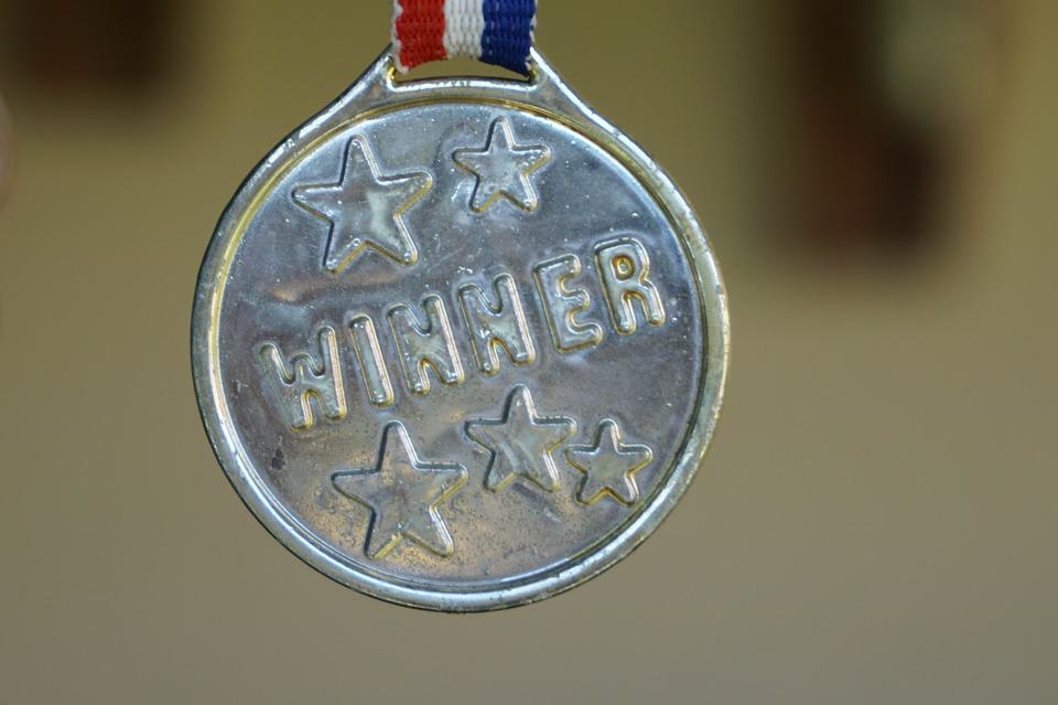 Winner, Medal, Gold, Award, Success, First