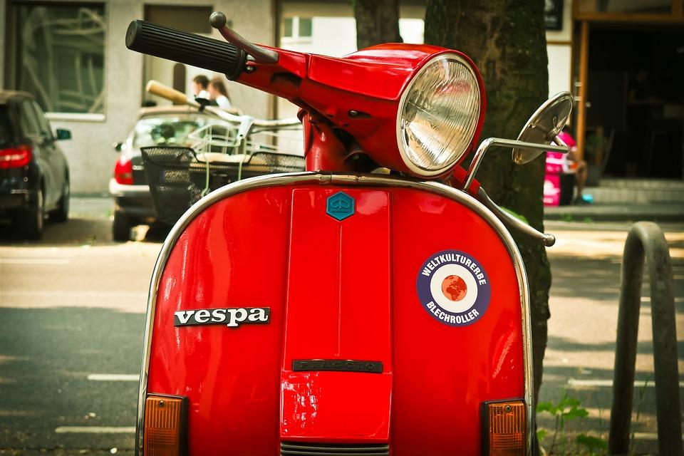 Motor Scooter, Vespa, Roller, Cult, Flitzer, Retro
