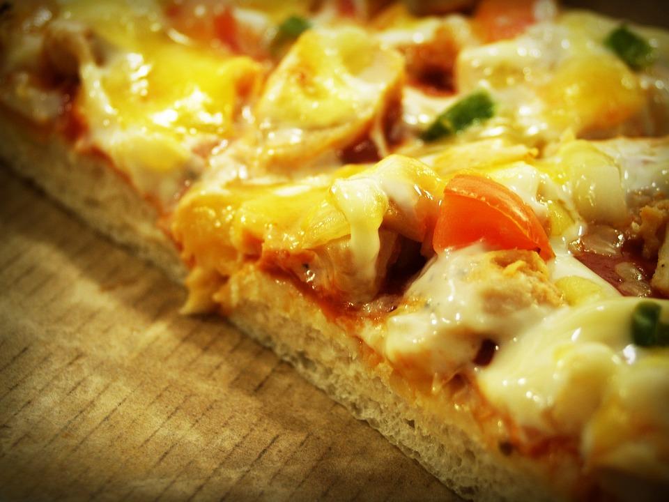 Pizza, Fetta, Peperoni, White, Sfondo, Crosta, Torta