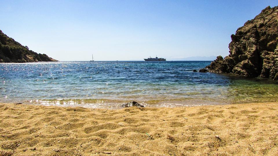 Greece, Skiathos, Diamanti Beach, Beach, Island, Greek