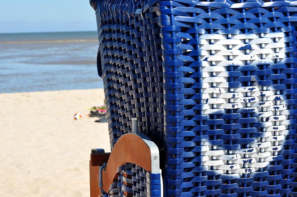 ビーチ チェア, ビーチ, 夏, 5, 番号, 海, 北の海, 休日